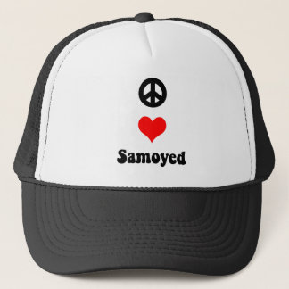 Peace love Samoyed Trucker Hat