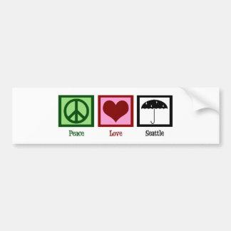 Peace Love Seattle Bumper Sticker
