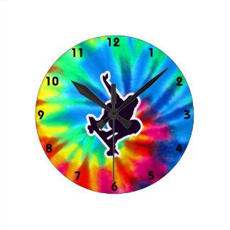 Peace, Love, Skateboarding Round Clock