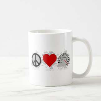 Peace Love Speed  Emblem 2 Coffee Mug