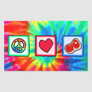 Peace, Love, Steaks Stickers