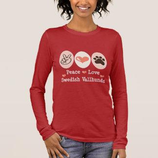 Peace Love Swedish Vallhunds Long Sleeve T-shirt