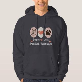 Peace Love Swedish Vallhunds Sweatshirt