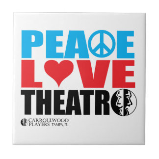 Peace Love Theatre Small Square Tile