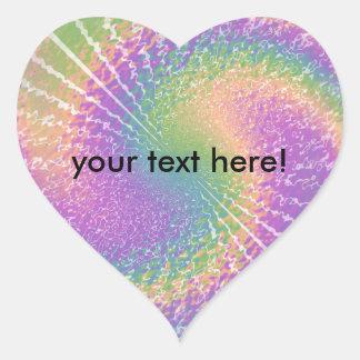 Peace, Love, & Tie Dye Heart Sticker