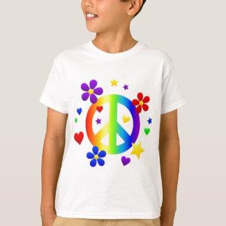 PEACE LOVE TIE DYE HIPPIE SYMBOL T-Shirt