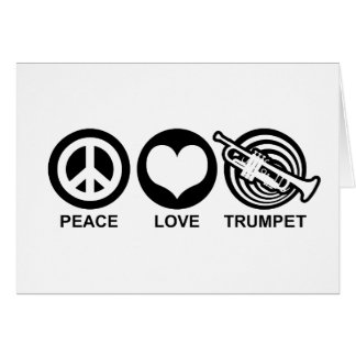 Peace Love Trumpet Greeting Card