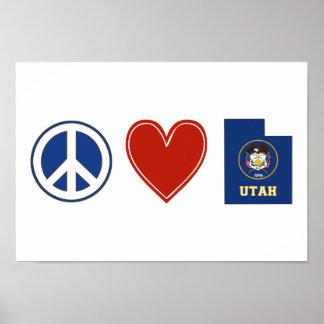 Peace Love Utah Poster