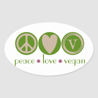 Peace Love Vegan Stickers