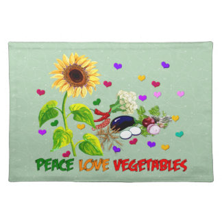 Peace Love Vegetables Placemat