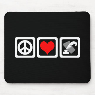 peace love writing mouse pad