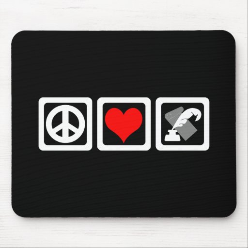 peace love writing mousepad