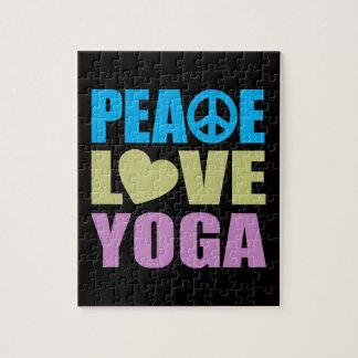 Peace Love Yoga Jigsaw Puzzle