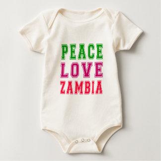 Peace Love Zambia. Bodysuit