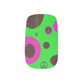Peace man minx nail art