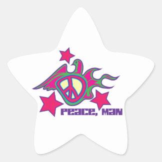 Peace Man Star Sticker