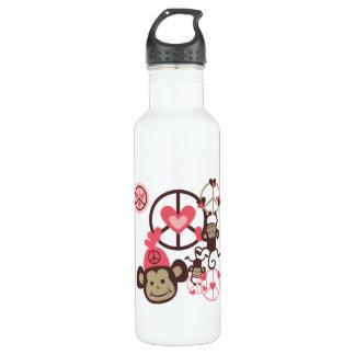 Peace Monkey 710 Ml Water Bottle