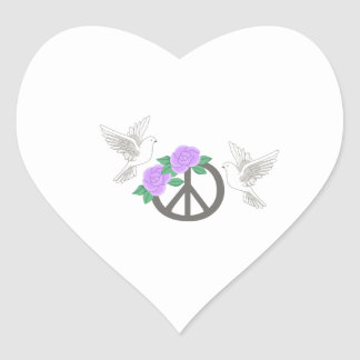 PEACE MONTAGE HEART STICKERS