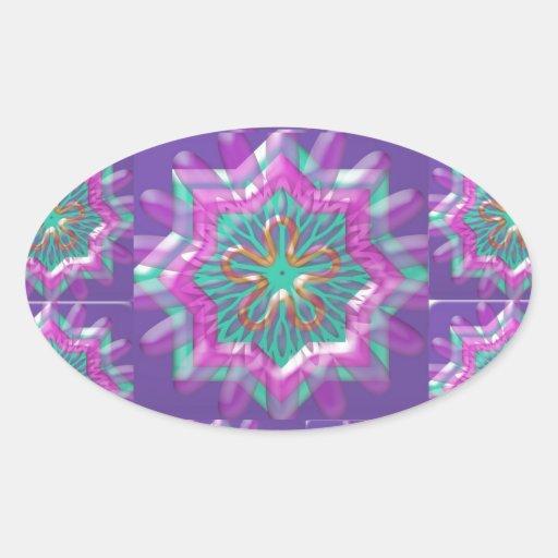 Peace n Joy: Holy Purple Star Constellation Oval Sticker