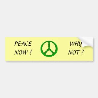 PEACE NOW ! - bumper sticker