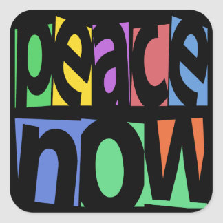 Peace Now Square Sticker