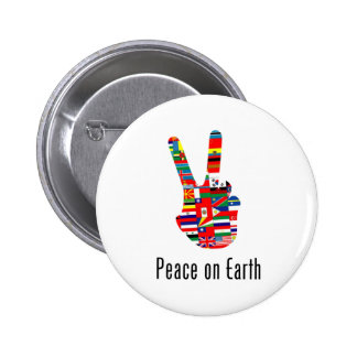 Peace On Earth 6 Cm Round Badge
