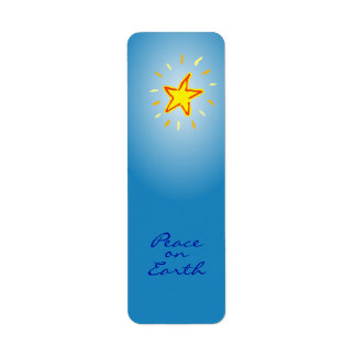 Peace on Earth Christmas Star Labels