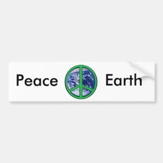 Peace on Earth, Green Bumper Sticker