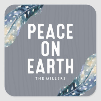 Peace On Earth | Holiday Square Sticker