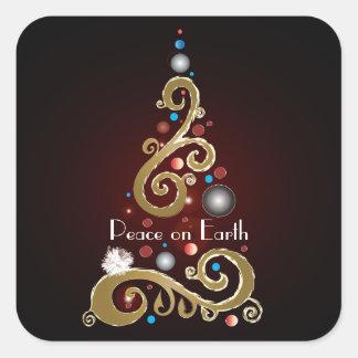 Peace on Earth III Square Sticker