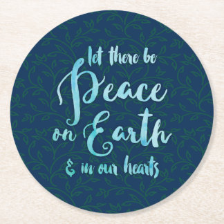 Peace on Earth & in Our Hearts - Holiday Coasters