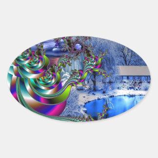 Peace On Earth Oval Sticker