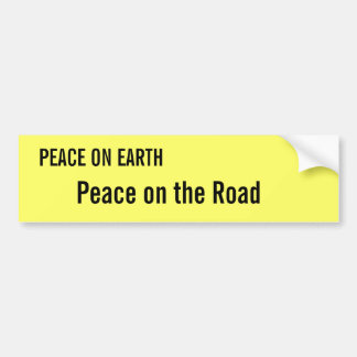 Peace on Earth Peace on the Road Bumper Sticker