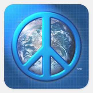 Peace On Earth Square Sticker