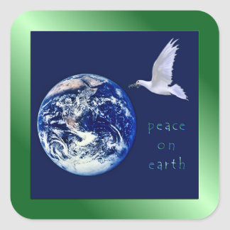 Peace on Earth Square Stickers