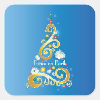 Peace on Earth V Square Sticker