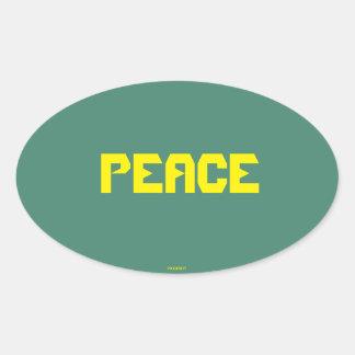Peace Oval Sticker