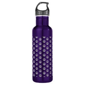 Peace Polka Dots Aluminum 710 Ml Water Bottle