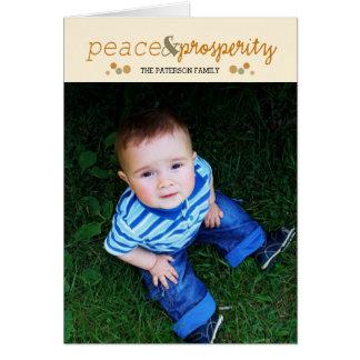 peace & prosperity card