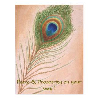 Peace & Prosperity on your way ! Postcard
