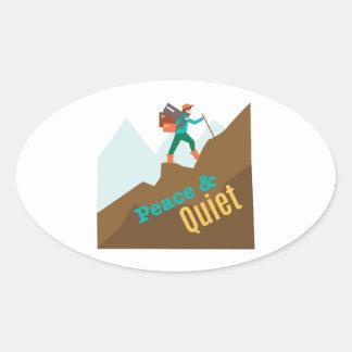 Peace & Quiet Oval Sticker