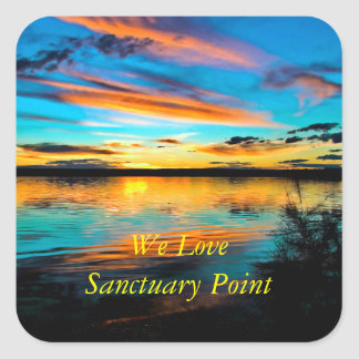 Peace & Quiet Square Sticker