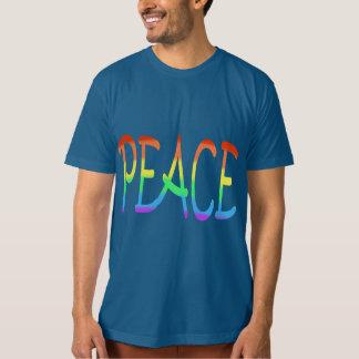 Peace Rainbow Colours Word Tee Shirts