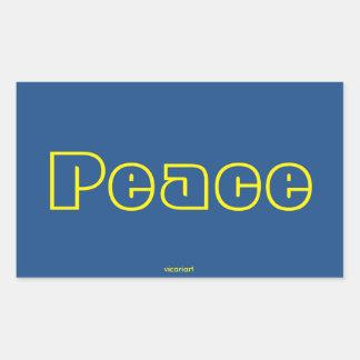 Peace Rectangle Sticker Rectangular Sticker