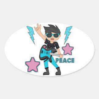 Peace Rock Star Stickers