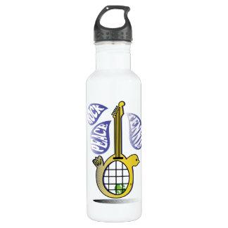 Peace, Rock, Tennis Water Bottle