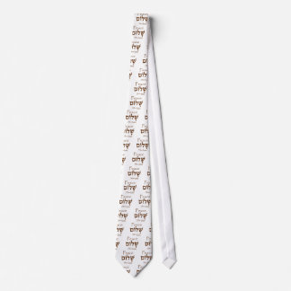 Peace (Shalom) in Hebrew Tie