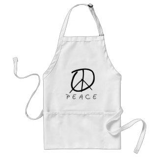 Peace Sign: Bud Hand Script Standard Apron