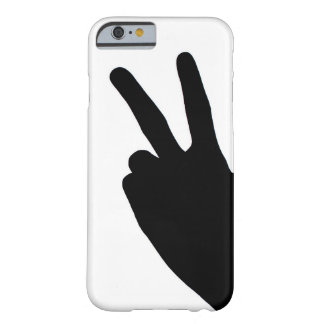 Peace Sign by Hand Barely There iPhone 6 Case