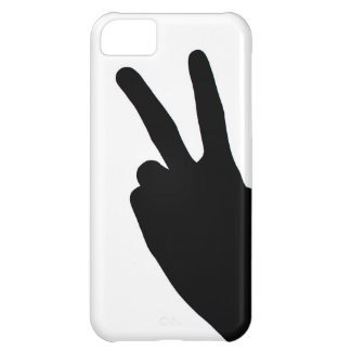 Peace Sign by Hand Case For iPhone 5C